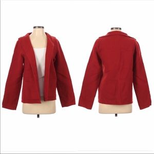 Eileen Fisher wool cashmere jacket red